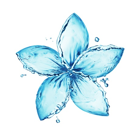 gocce di acqua: fiore fatto di spruzzi d'acqua