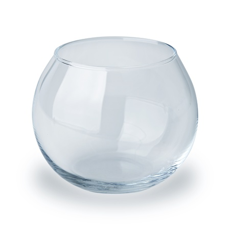 tank fish: fish bowl isolated on white Stock Photo