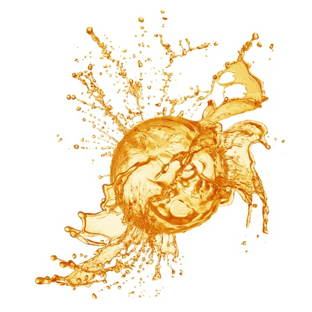 orange juice splash photo