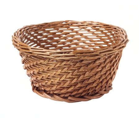 cepelia: wicker basket isolated on white background