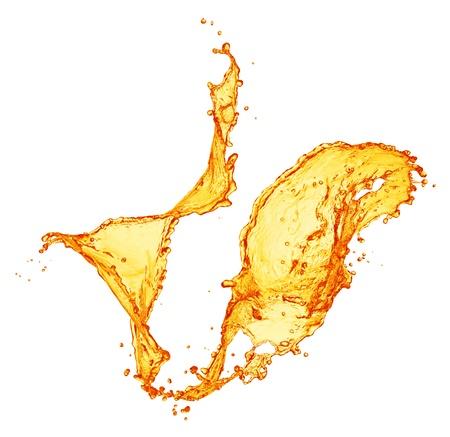 orange juice splash Фото со стока