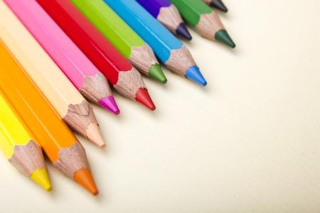 color pencil: Color pencils crayons on paper background