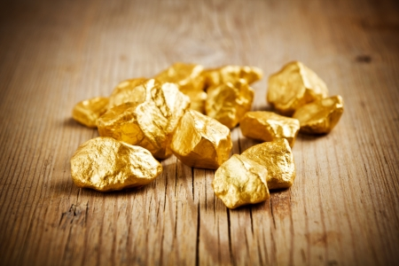 to rush: Gold nuggets