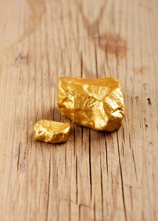 Gold nuggets photo