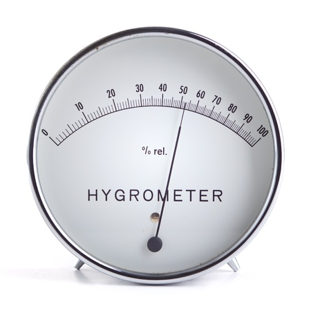 humidity: Hygrometer Stock Photo