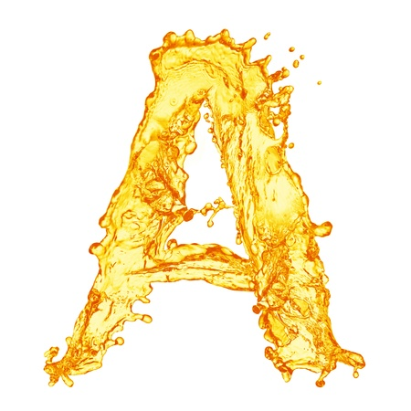 Orange liquid splash alphabet Stock Photo - 13515649