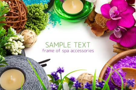 Frame made of spa accessories photo