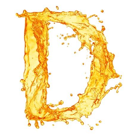 Orange liquid splash alphabet photo