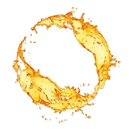 verre jus orange: �claboussures de jus d'orange Banque d'images