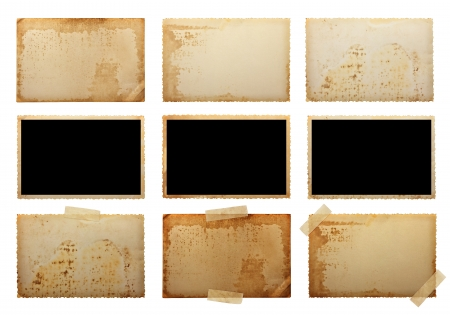 old photo: old photo paper texture isolated on white background