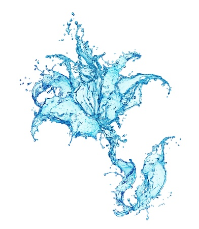 made of water: flower made of water splash Stock Photo