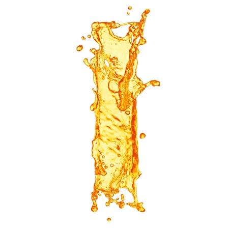 коньяк: Оранжевая жидкость алфавита всплеск Фото со стока