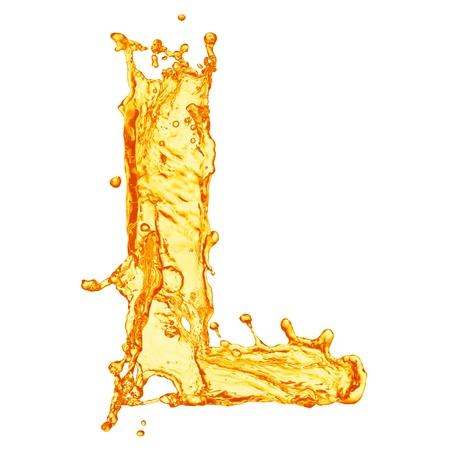 liquid crystal: Alfabeto Orange salpicaduras de l�quidos