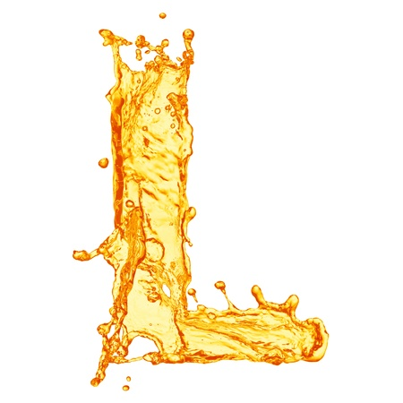 Orange liquid splash alphabet Stock Photo - 14096424