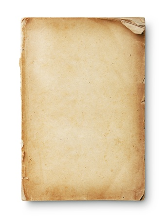 vintage paper: Old book pages with shadow. With clipping path Stock Photo