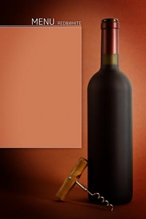 Bottles of wine on black background photo