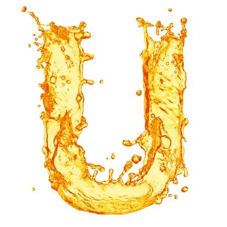 Orange liquid splash alphabet Stock Photo - 14901283