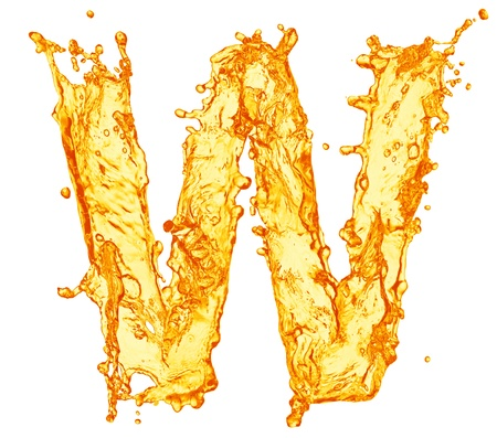 Orange liquid splash alphabet 免版税图像