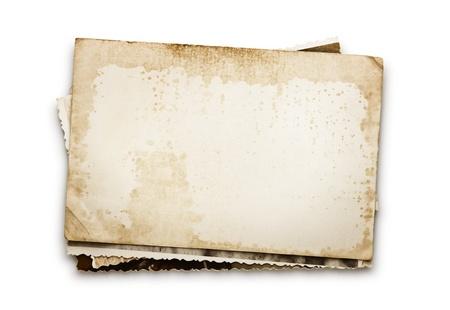 bordure vieille photo: Pile de vieilles photos