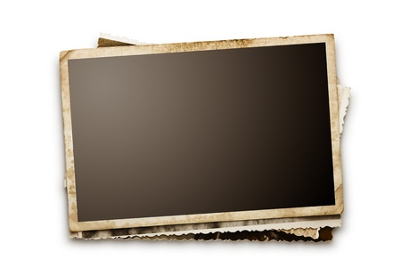 Stapel van oude foto's