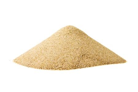 Pile of sand isolated on white photo
