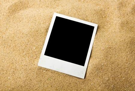Empty photo on background beach sand photo