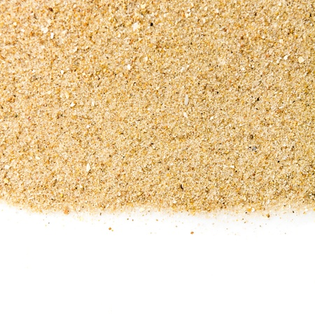 The sand isolated on white background photo