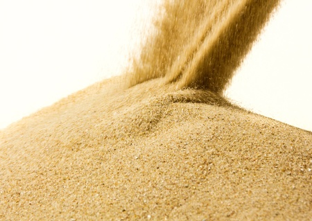 sand fray on white background photo