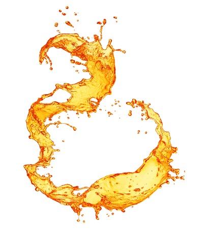 orange splash: Orange splashing