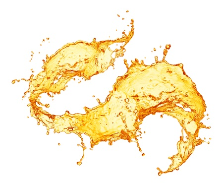 jugos: splash de jugo de naranja