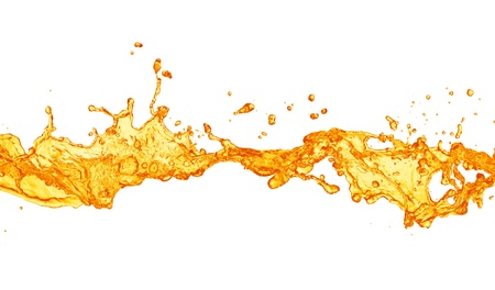 orange juice: orange juice splash Stock Photo