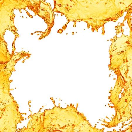 gaseosas: Marco del zumo de naranja Foto de archivo