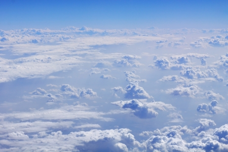 above the clouds: An image of a flight over the clouds