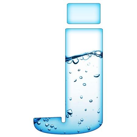 Een brief van water wave alfabet