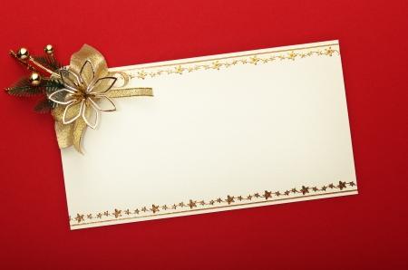 Carte de Noël avec l'ornement de l'espace et de Noël Banque d'images