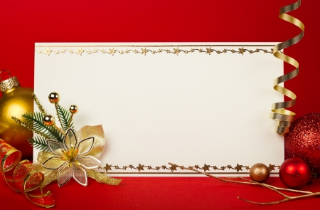 Christmas card with space and christmas decoration Stock Photo - 16319725