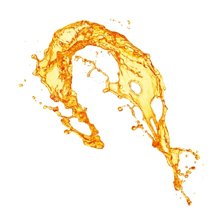 juice splash: orange juice splash Stock Photo