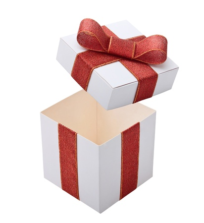 Open gift box photo