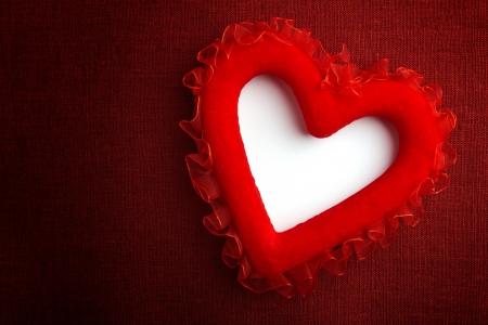 Heart on a canvas Stock Photo - 17901323