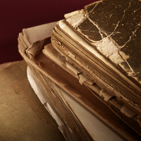 ancient books: Closeup of old book pages