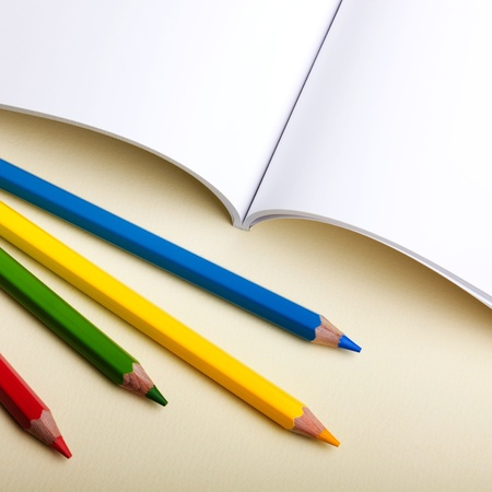 gamut: Color pencils on notebook