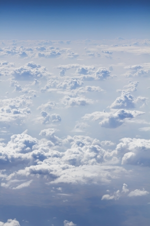 above the clouds: view on sky above clouds