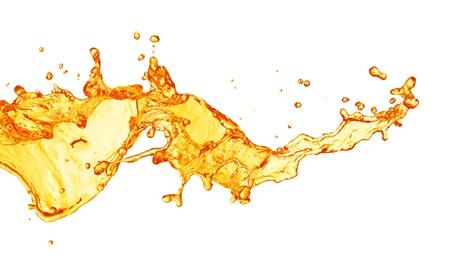 verre jus orange: ?claboussures de jus d'orange