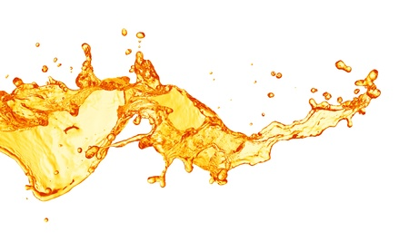 liquid summer: orange juice splash Stock Photo