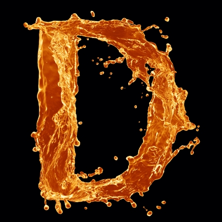 Orange liquid splash alphabet photo