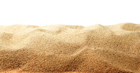 duna: Las dunas de arena aislado en el fondo blanco Foto de archivo