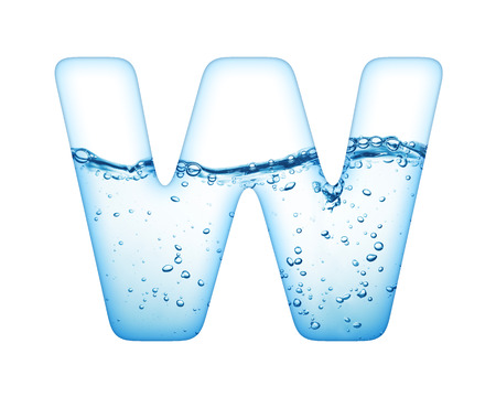water wave: One letter of water wave alphabet  Stock Photo