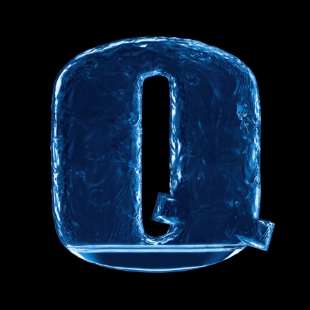 One letter of the alphabet. Water splash in a glass Stock Photo - 22287193