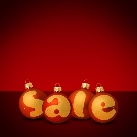christmas shopper: Christmas sale balls Stock Photo