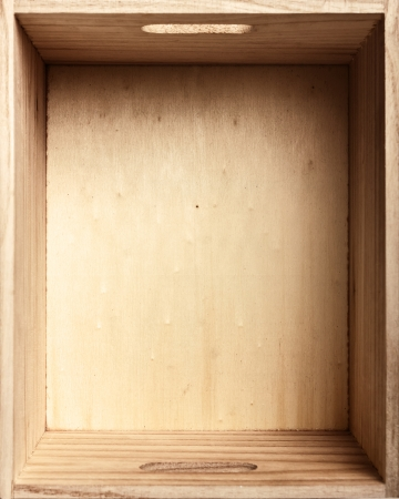 wood box: Top view of old wooden box Stock Photo